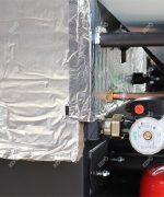 Izolarea cazanului – vată de sticlă cu o grosime 20-60mm, folie de aluminiu acoperită